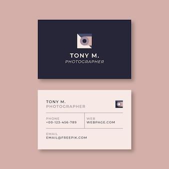 Minimalist modern photographer business card