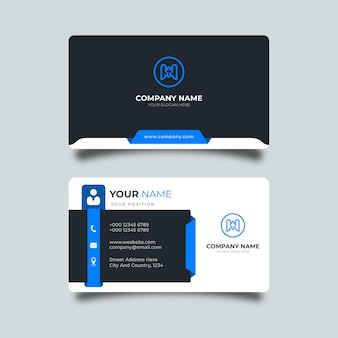 Minimalist modern simple business card template