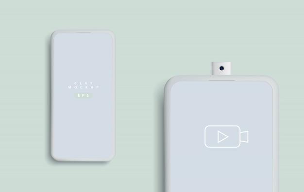 ミニマリストの現代的なスマートフォンのモックアップ