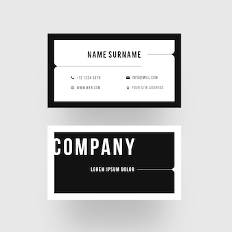 Minimalist monochrome business identity card