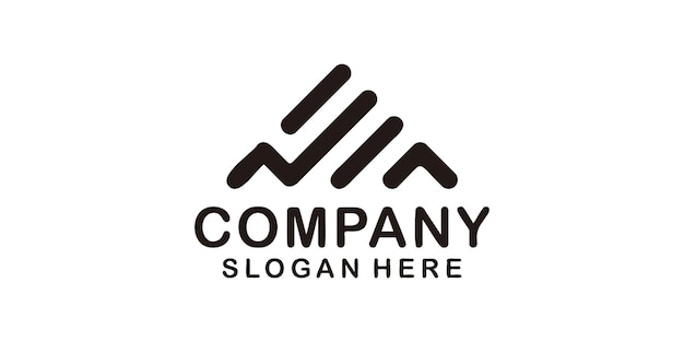 Minimalist monogram trendy a letter company logo for branding