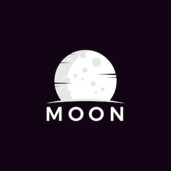 Minimalist moon logo vector