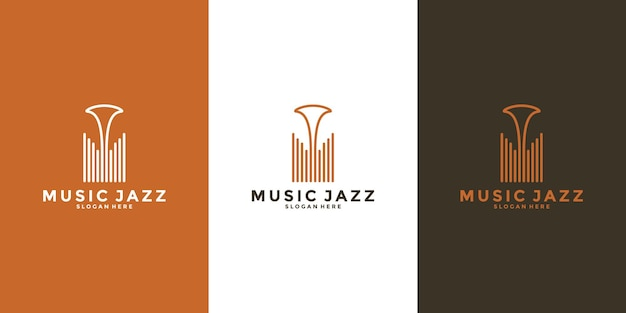 Minimalist music jazz logo design for your musician or music lovers or business etc