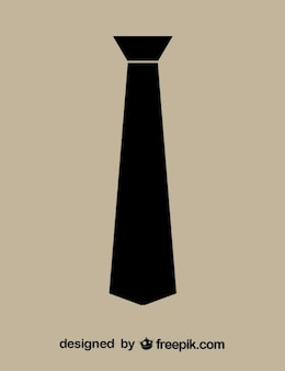 Minimalist necktie black icon