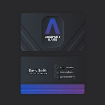 Minimalist neumorph business card