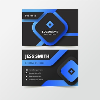 Minimalist neumorph business card