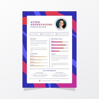 Minimalist online cv of new employee