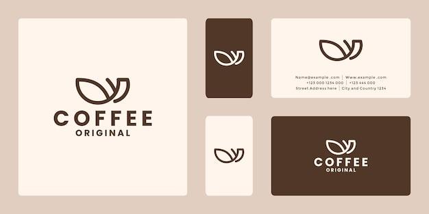 Minimalist original coffee logo design for cafe shop market