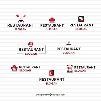 Minimalist pack of elegant restaurant logos