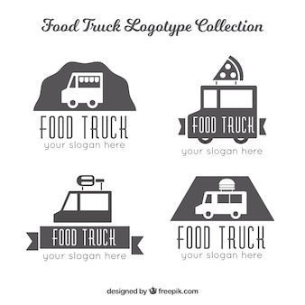 Minimalist pack of food truck logos