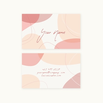 Minimalist pastel colored company card