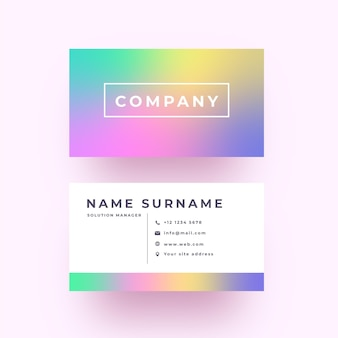 Minimalist pastel gradient business card