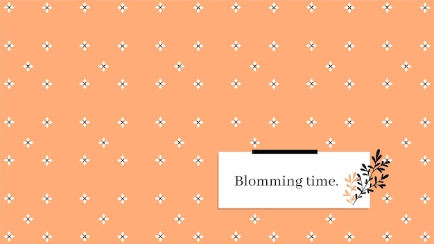 Minimalist pattern blooming spring desktop wallpaper