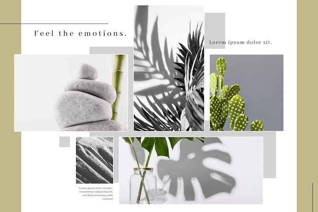 Minimalist photo collage template