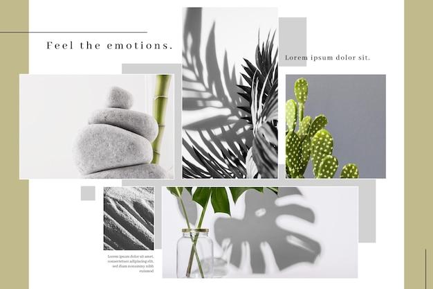 Modello minimalista per collage di foto