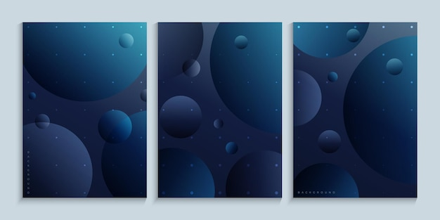 Minimalist poster wall art with planets in outer space