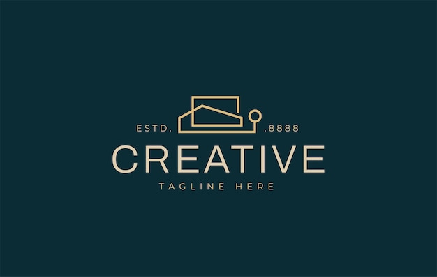 Minimalist real estate logo design template