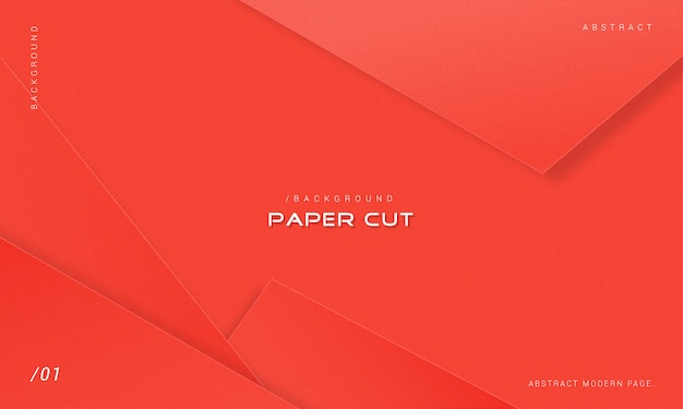 Minimalist red paper cut background
