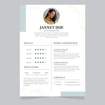 Minimalist resume templates