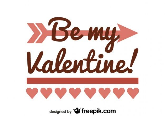 Minimalist retro be my valentine card design