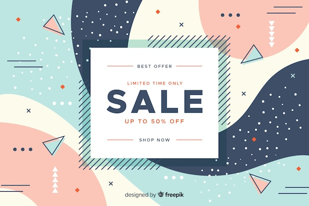 Minimalist sale design concept background