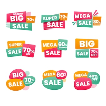 Minimalist sales label pack