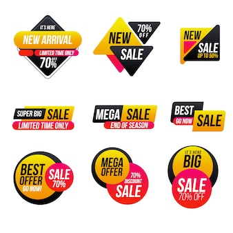 Minimalist sales label set