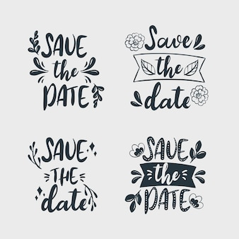 Minimalist save the date lettering