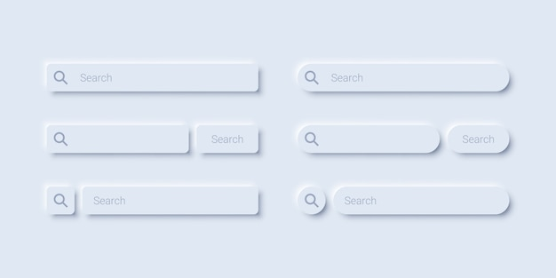 Minimalist search bar template design
