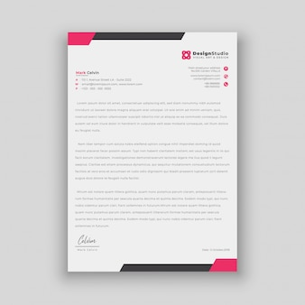 Minimalist simple letterhead template design