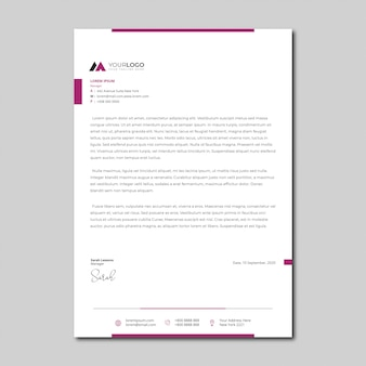 Minimalist simple letterhead template