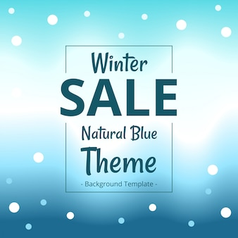 Minimalist simple winter theme sale banner template