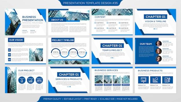 Minimalist slides template