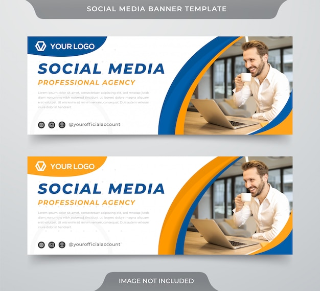 Minimalist social cover template