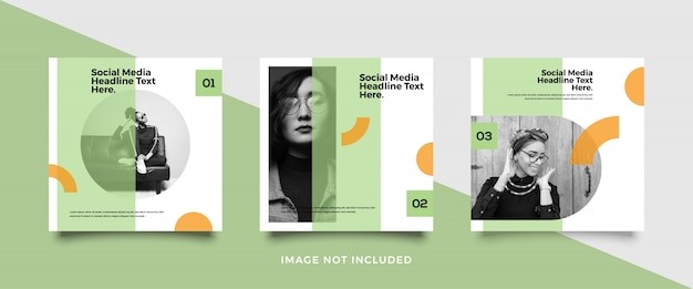 シンプルなソーシャルメディア投稿テンプレートコレクション