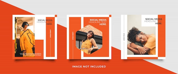 Minimalist social media post template