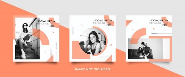Minimalist social media post template