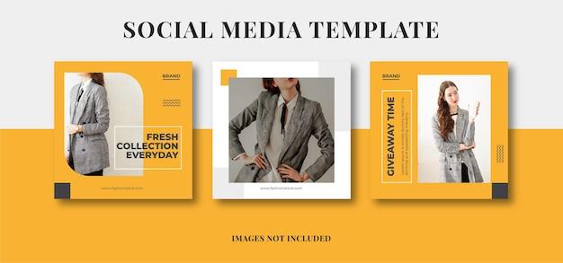 Minimalist social media template banner fashion sale promotion