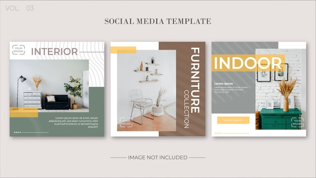 Minimalist social media template collections