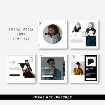 Minimalist social media template