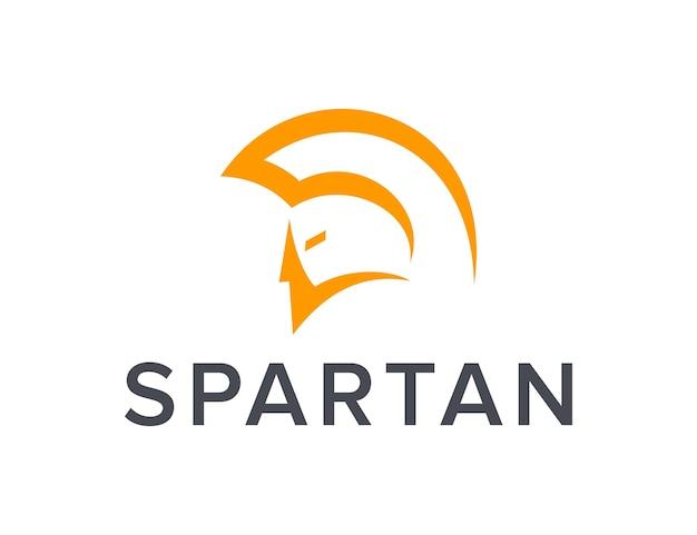 Minimalist spartan outline simple sleek creative geometric modern logo design