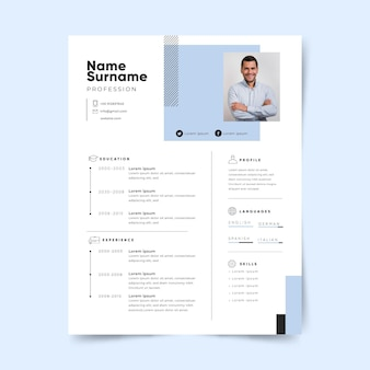 Minimalist style application page template