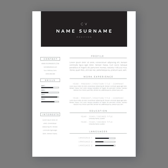 Minimalist style application template