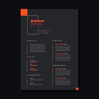 Minimalist style cv templates