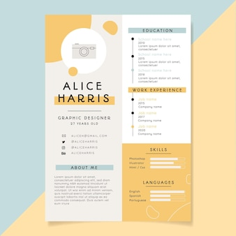 Minimalist style job application templates