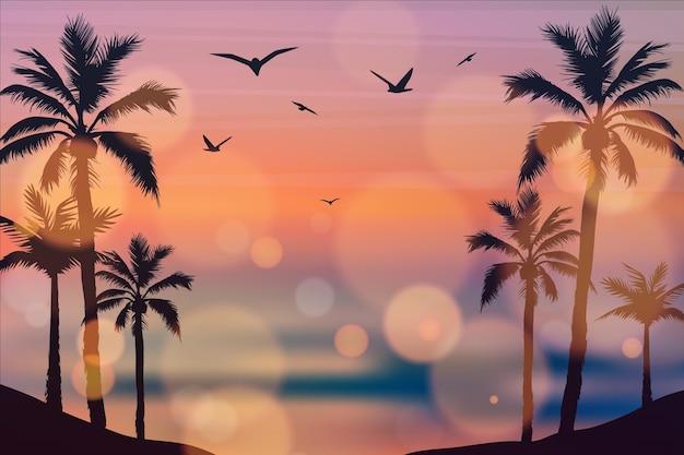 미니멀리스트 일몰 바다 미적 바탕 화면 배경 무늬