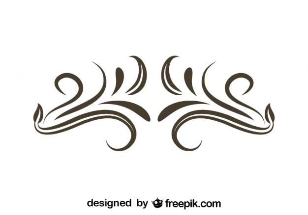 Минималистский водоворот винтажном стиле украшения