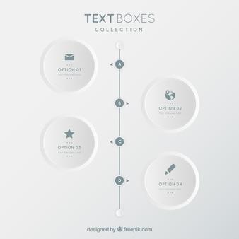 Minimalista collezione caselle di testo