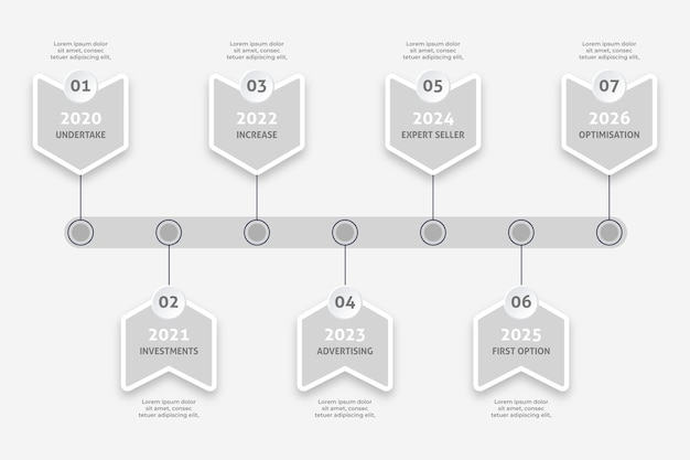 Minimalist timeline infographic