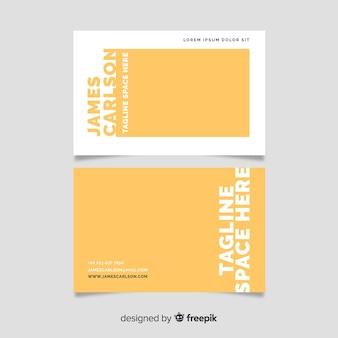 Minimalist visiting card template